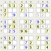 Sudoku grid